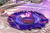 Arranjament for a romantic dinner -8 — Стоковое фото