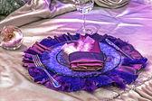 Arranjament romantik bir akşam yemeği -8 için — Stok fotoğraf