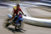 Motociclista movimento borrado abstrato 3 — Foto Stock