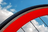 Bicycle wheel. Detail 1 — Stock Photo
