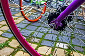 Bicycle wheel. Detail 9 — Stock Photo