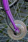 Bicycle wheel. Detail 12 — Stock Photo