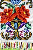 材料と伝統的な刺繍ルーマニア ポート特定 6 — ストック写真