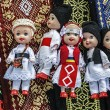 Dolls dressed in traditional Romanian folk costumes-1 — Stock Photo #33497355