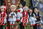 Dolls dressed in traditional Romanian folk costumes-1 — Stock Photo