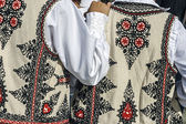 Traditional Romanian folk costume.Detail 32 — Stock Photo