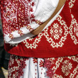 Traditional Romanian port of female clothes-2 — Stock Photo