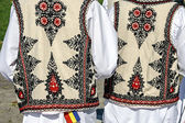 Traditional Romanian folk costume.Detail 34 — Stock Photo