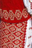 Traditional Romanian port of female clothes-1 — Stock Photo