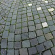 Cobblestone sidewalk made of cubic stones 1 — Stock Photo