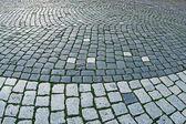 Cobblestone sidewalk made of cubic stones 2 — Stock Photo