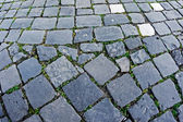 Cobblestone sidewalk made of cubic stones 10 — Stock Photo