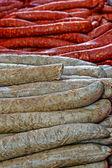 Bulk pork sausages — Stock Photo