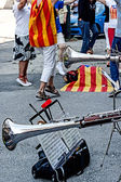 Spanish Catalan street dance — Stock Photo