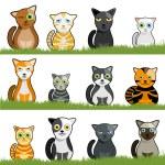 Cartoon cat set — Stock Vector #8014561