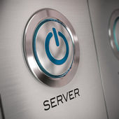 Server button — Stock Photo