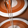 Target and arrow background, business goal — Stock Photo