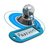 Password protected, internet security — Stock Photo