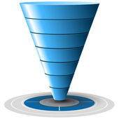 Sales or Conversion Funnel, Vector Graphics — Stock Vector
