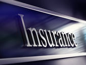 Insurance company plaque, 3d rendering — Foto de Stock
