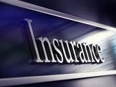 Plaque de la compagnie d'assurance, rendu 3d — Photo