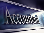 Accountant company plaque, 3d rendering — Stock Photo