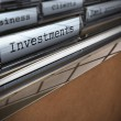 Royalty-Free Stock Photo: Business and investments folder