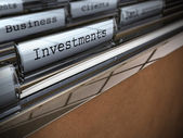 Business and investments folder — Foto de Stock