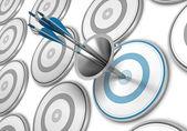 消費者の概念を誘致マーケティング目標到達プロセス、 — ストック写真