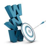 Estratégia de web marketing, negócio na internet — Foto Stock