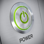 Power button of a computer, energy save — Stock Photo