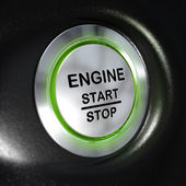 Engine Start and Stop Button, Automobile Starter — Stock Photo