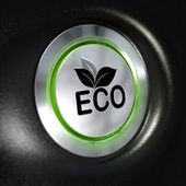 Botão de modo de eco, economia de energia — Fotografia Stock