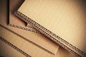 Corrugated Cardboard Background, Carton Detail — Stock Photo
