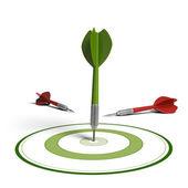 Markt gericht op concept, verbetering van de resultaten — Stockfoto