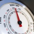 Barometer Dial Set to Very Dry, Weather Forecast — Stock Photo
