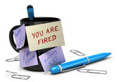 Losing Job Concept, Unemployment, You Are Fire — Stock Photo