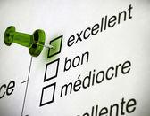 French Quality Survey — Stock Photo