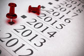 Year 2014 Two Thousand and Thirteen. — Stock Photo