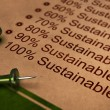 Fully Sustainable, Improving Sustainability — 图库照片
