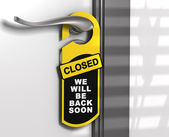 Closed Sign, Door Hanger — Stock Photo