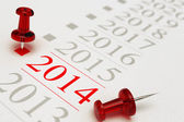 New Year 2014, Timeline — Stock Photo