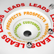 Conversion Funnel - Leads to Sales - Stock Photo