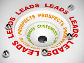 Conversion Funnel - Leads to Sales — Stock Photo