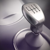 Gear Shift Detail, Automobile — Stock Photo