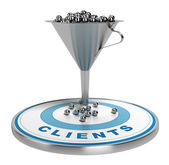 Marketing Sales or Conversion Funnel — Stock Photo