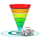 Sales funnel. Marketing or Business Chart — Stock Photo