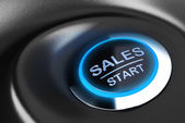 Business button, Sales Motivation — Stock Photo