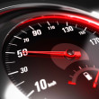 Reducing Speed Safe Driving Concept - 50 Km h — Stock Photo