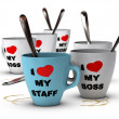 Staff Relations and Motivation, Workplace — Stock Photo